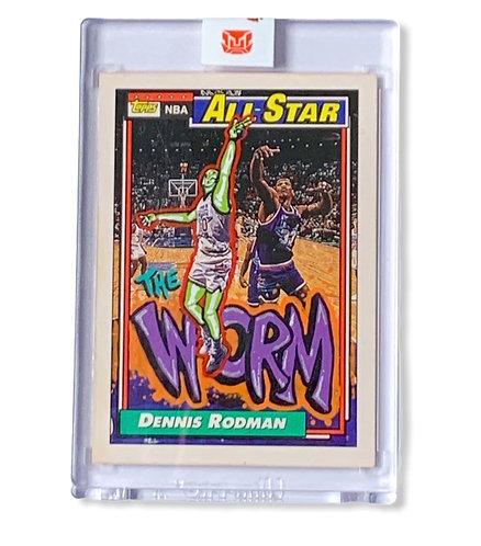 Dennis Rodman 1/1 the worm Topps 1992 Detroit Pistons
