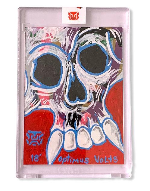 Skull art card 1/1 Hoops 1999