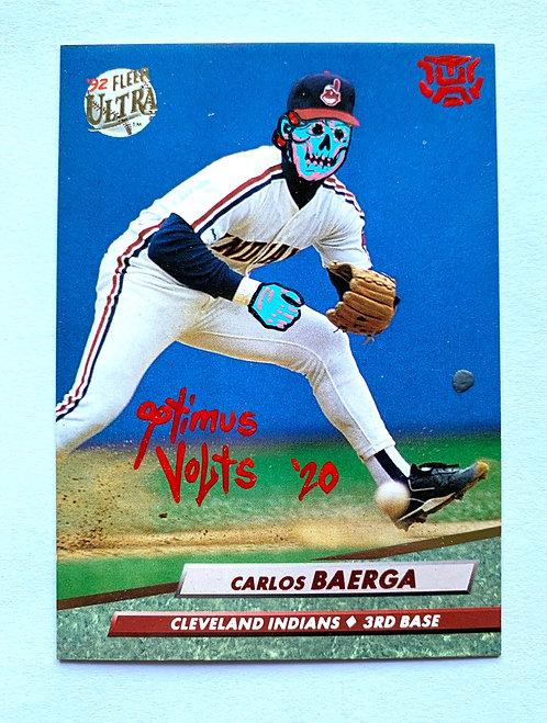 Carlos Baerga Fleer ultra 1992 Cleveland Indian's
