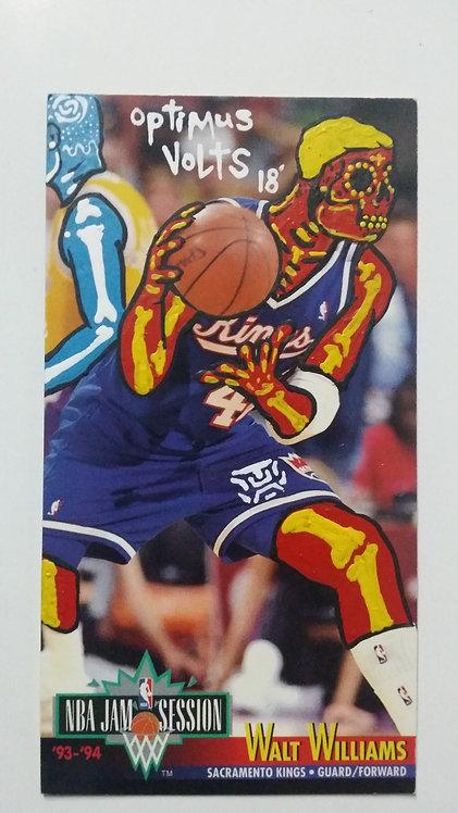 Dia de los Muertos Basketball card Walt Williams