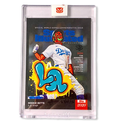 Mookie Betts 1/1 Sports Illustrated cover card Los Angeles Dodgers