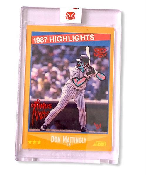 Don Mattingly 1/1 1988 score New York Yankees