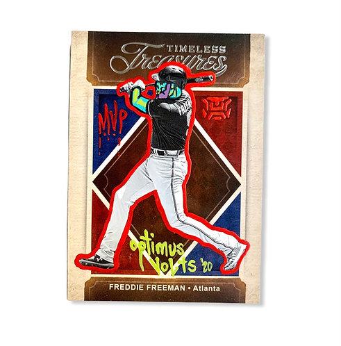 Freddie Freeman Panini 2020 timeless treasures Atlanta Braves