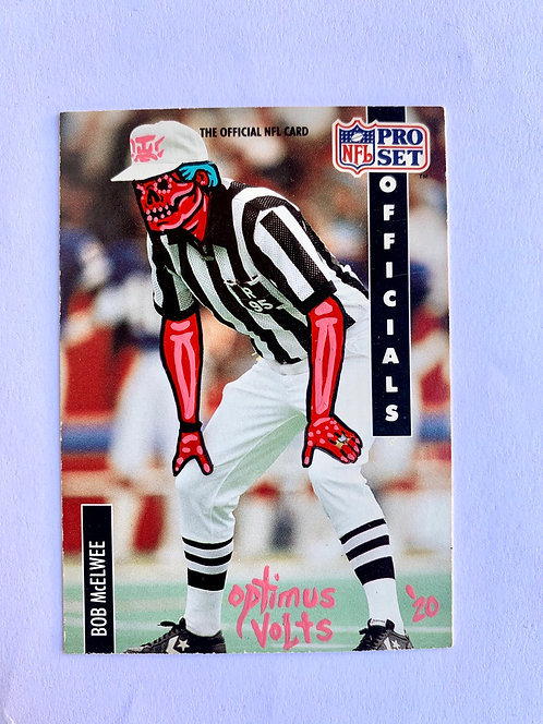 Bob McElwee Referee NFL pro set 1991