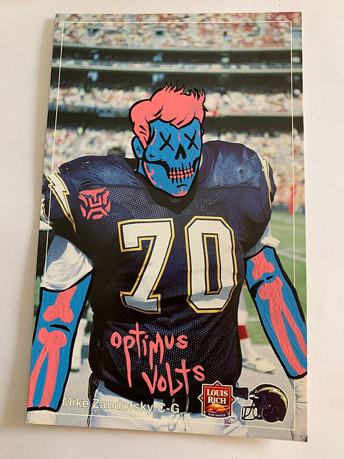 Louis rich Mike Zandofsky San Diego chargers Dia Delos Muertos Football card