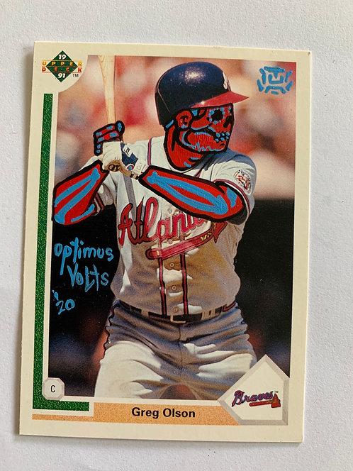 Greg Olsen upper deck 1991 Atlanta Braves