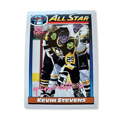 Kevin Stevens O-pee-chee 1991 Pittsburgh Penguins