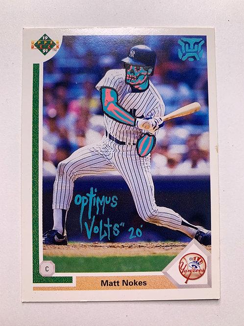 Matt Nokes Upper deck 1991 New York Yankees