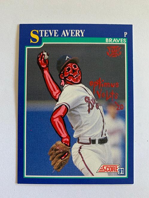 Steve Avery score 1991 Atlanta Braves
