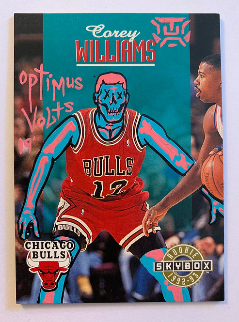 Corey Williams Bulls Dia Delos Muertos Basketball card