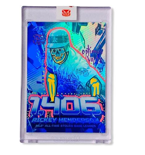 Ricky Henderson Topps 2020 insert card Oakland Athletics