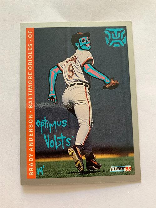 Brady Anderson Baltimore orioles fleer 1993 Dia Delos Muertos Baseball card