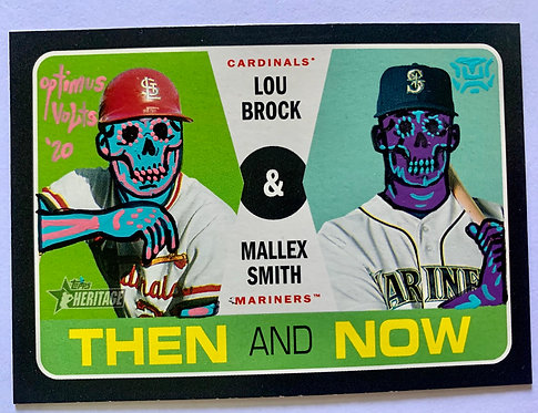 Lou Brock & Mallex Smith Topps Heritage Cardinals Mariners