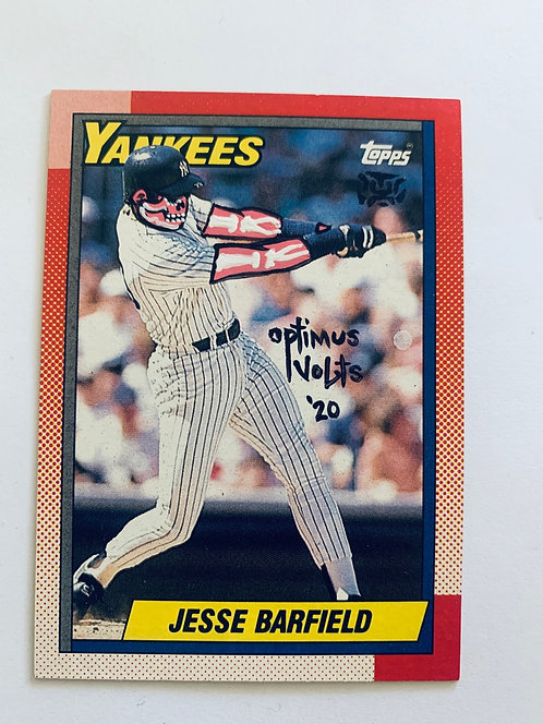 Jesse Barfield Topps 1990 New York Yankees
