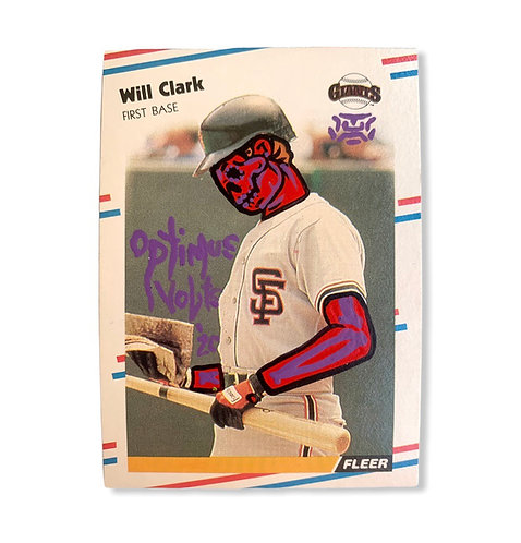Will Clark Fleer 1988 San Francisco Giants