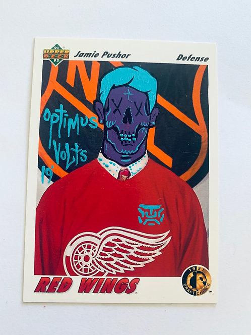 Jamie Pushor Upper deck 1991/92 Red wings