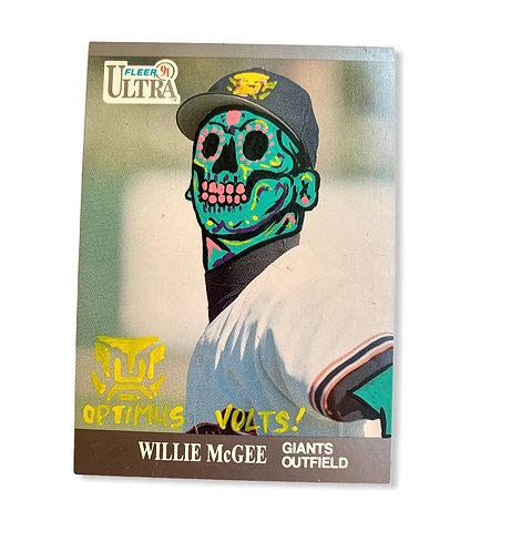 Willie McGee Fleer ultra 1991 San Francisco Giants