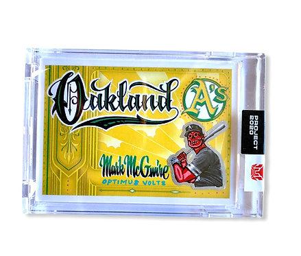 Mark Maguire Topps project 2020 Mister Cartoon Oakland Athletics