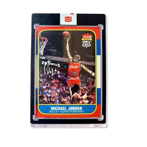 Metallic gold Michael Jordan Fleer 1987 Chicago bulls Re-print