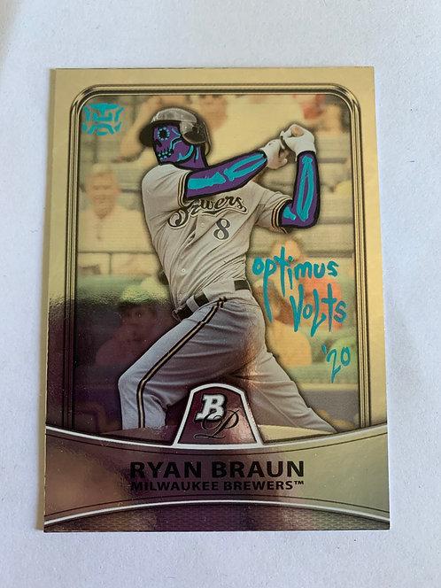 Ryan Buaun Topps Bowman platinum 2010 Milwaukee Brewers