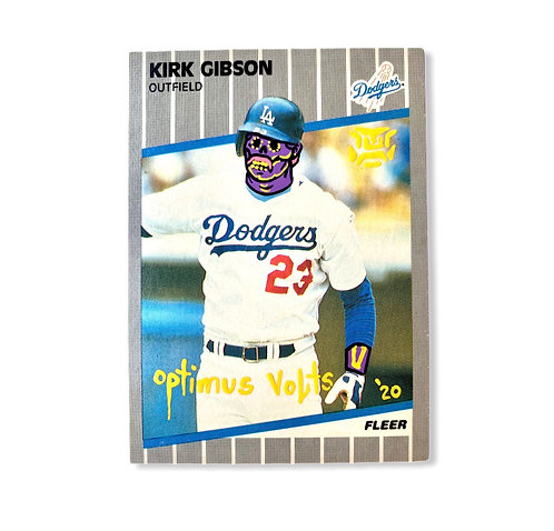 Kirk Gibson Fleer 1989 Los Angeles Dodgers