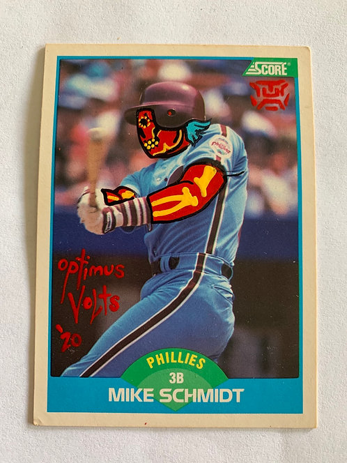 Mike Schmidt Score 1989 Philadelphia Phillies