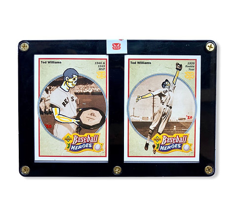Ted Williams upper deck baseball heroes 2 card set Sealed 1 of 1 sticker