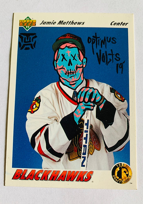 James Matthews Upper deck 1992 Chicago Blackhawks