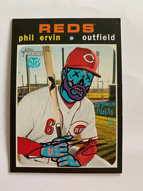 Phil Ervin Topps Heritage 2020 Cincinnati Reds