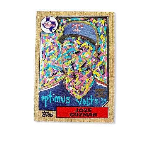 Abstract Jose Guzman Topps 1987 Texas Rangers