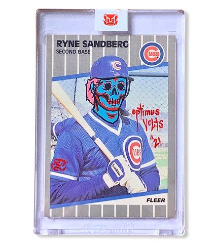 Ryan Sandberg 1/1 Fleer 1989 Chicago cubs