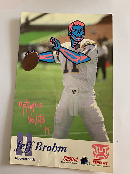 San Diego chargers Jeff Brohm Castrol Pep Boys card Dia Delos Muertos