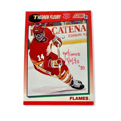Theoren Fleury Score 1991 NHL Flames