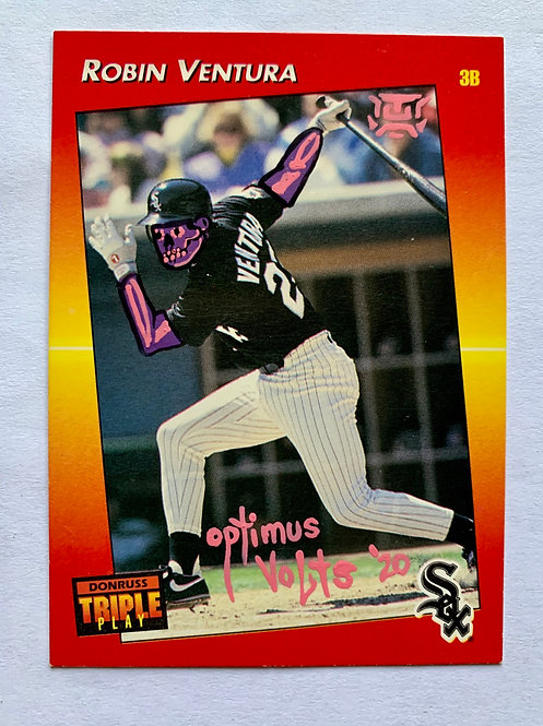 Robin Ventura Donruss Triple play 1992 leaf Chicago White Sox