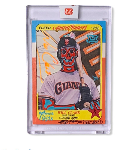Will Clark Kalab card Donovan Lopez @Donnybecollectibles 1/1 Giants
