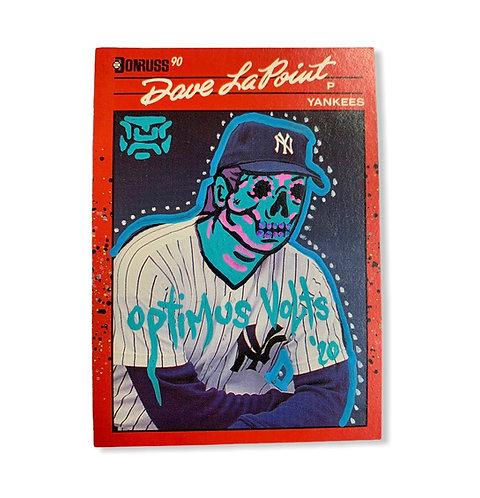 David Jeffrey LaPoint Donruss 1990 New York Yankees