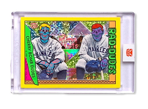 Babe Ruth and Lou Gehrig 1/1 Kalab card Lunchmade & Optimus Volts Yankees