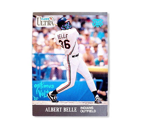 Albert Belle Fleer ultra 1991 Cleavland Indians