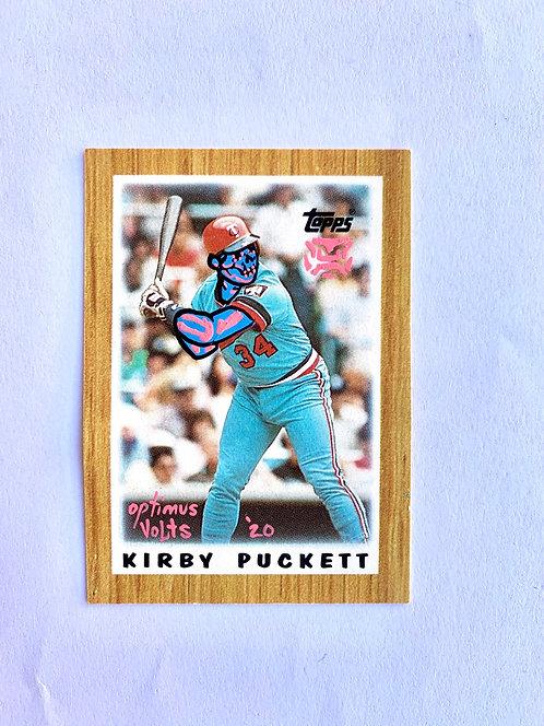 Kirby Puckett Topps 1987 mini Minnesota twins