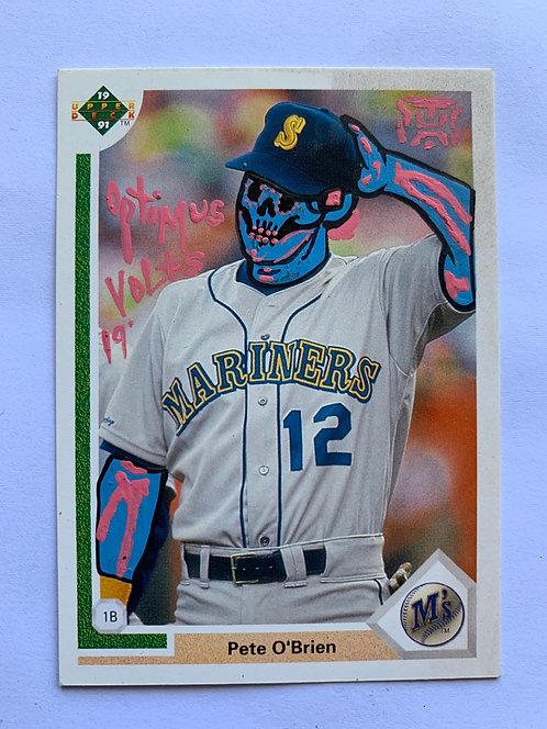 Pete O'Brian Upper deck 1991 Seattle mariners