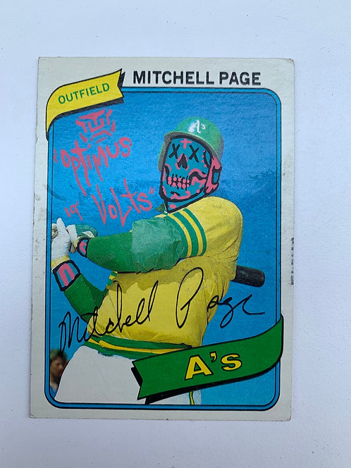 Mitchell Page Topps 1980 Oakland Athletics