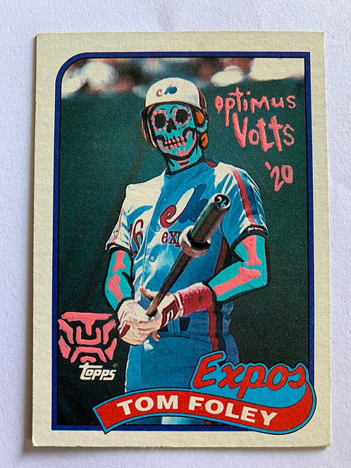 Tom Foley Topps 1989 Montreal expos