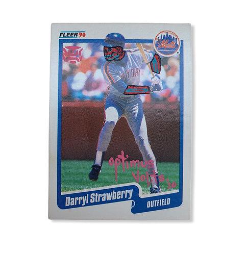 Darryl Strawberry Fleer 1990 New York Mets