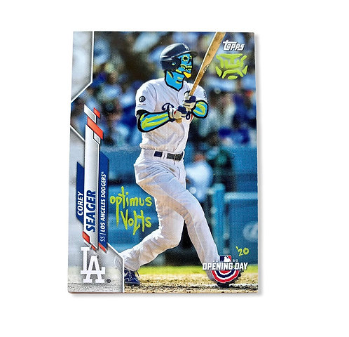 Corey Seager Topps 2020 opening day Los Angeles Dodgers