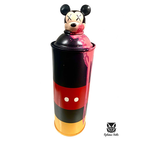 Dead Mickey Spray Can Pink Drip