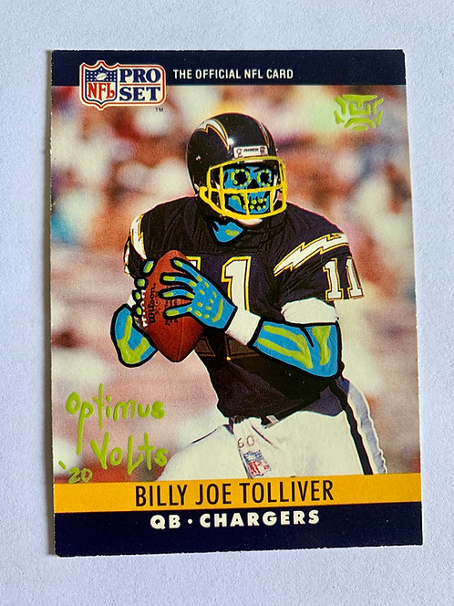 Billy Joel Tolliver NFL Pro Set  1990 San Diego chargers