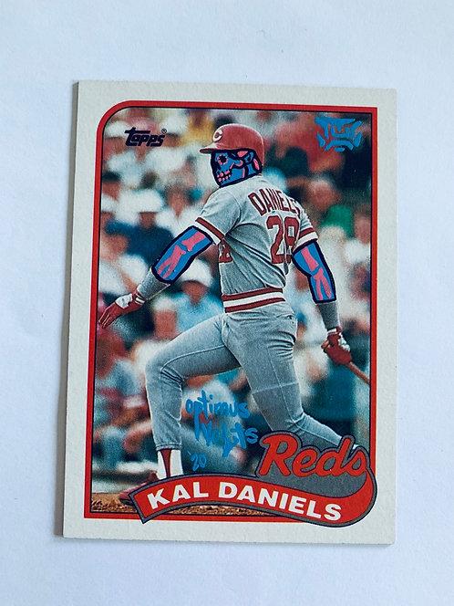 Kal Daniels Topps 1989 Cincinnati Reds