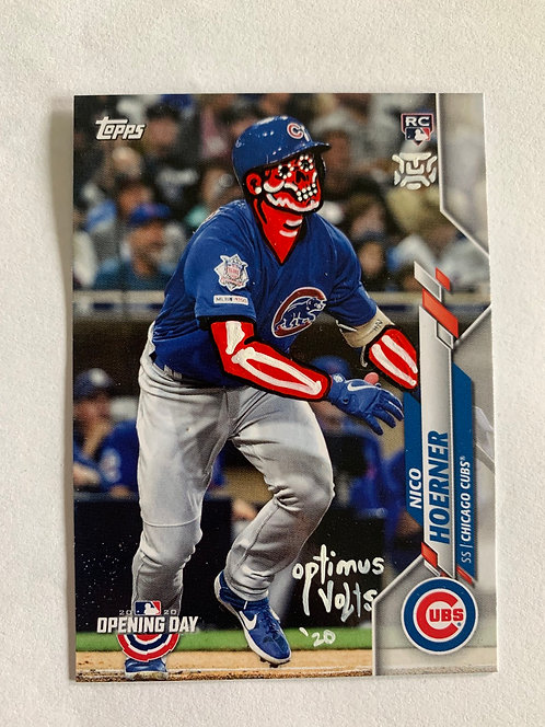 Nico Hoerner Topps 2020 Opening day Chicago cubs