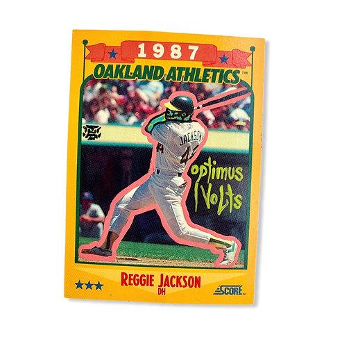 Reggie Jackson 1988 score Oakland Athletics