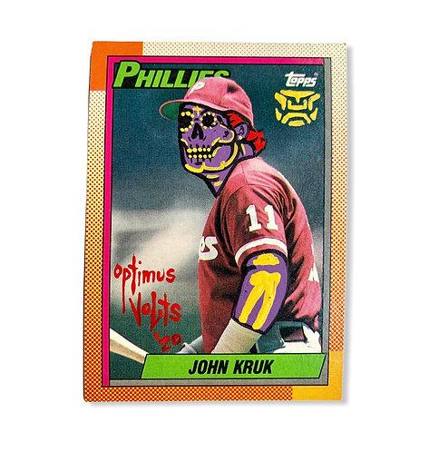 John Kruk Topps 1990 Philadelphia Phillies